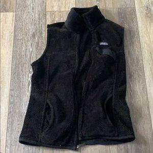 Patagonia women's fleece vest black
